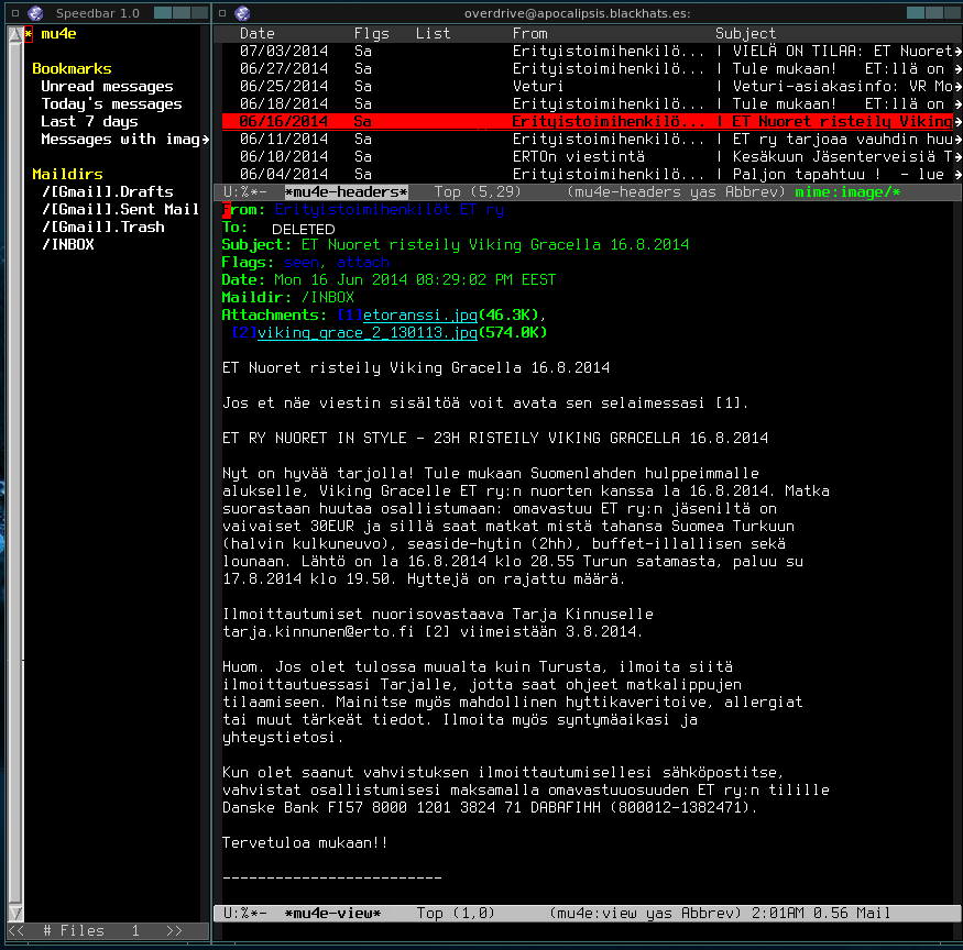 GNU/Emacs » Offlineimap + Mu + Mu4e en emacs: alternativas modernas